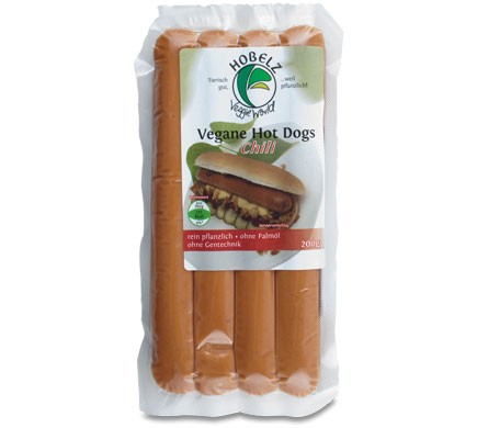 Hobelz VEGANE HOT DOGS Chili, 200g
