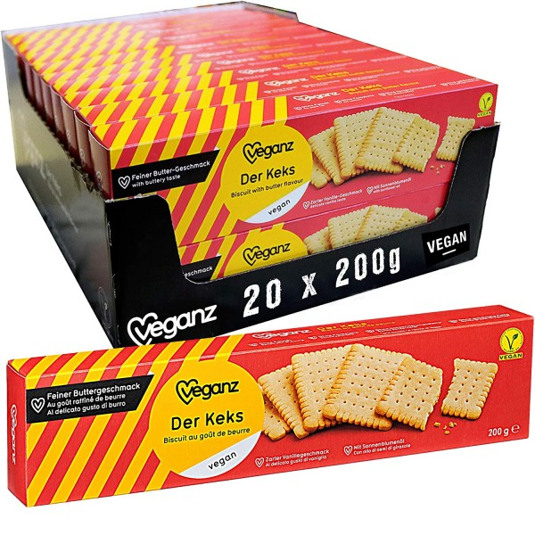 Veganz Der Keks - knusprige vegane Butterkekse 200g
