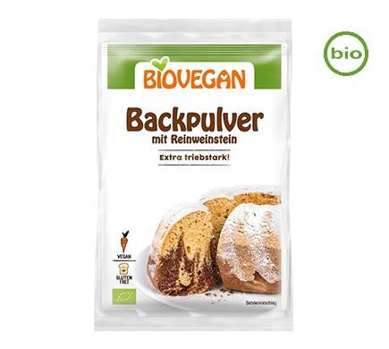 Backpulver mit Reinweinstein von Biovegan