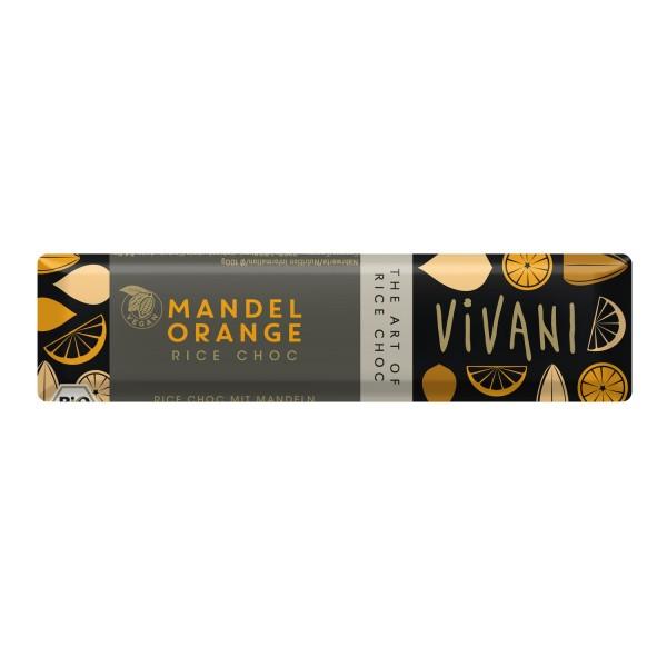 Vivani MANDEL ORANGE Riegel, BIO, 35g