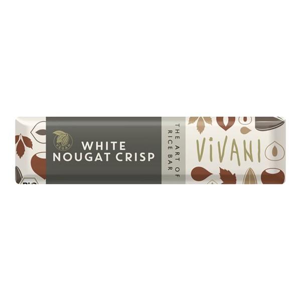 Vivani WHITE NOUGAT CRISP Riegel, BIO, 35g