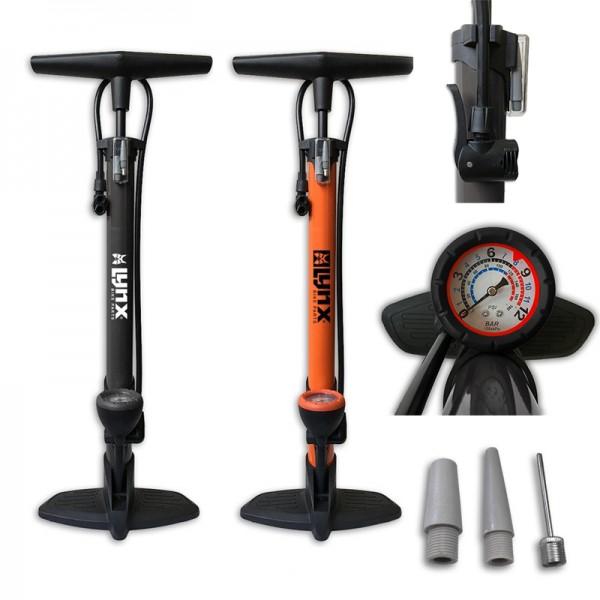 Fahrradpumpe Fahrrad Standpumpe Luftpumpe mit Manometer 12 bar für alle Ventile