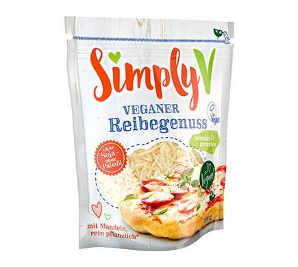 Simply V veganer Streukäse zum Überbacken veganer Rezepte