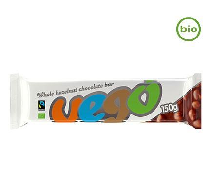 Veganer Schokoriegel von Vego mit ganzen Haselnüssen