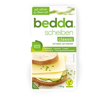 bedda scheiben veganer Käse bei lactoseintoleranz