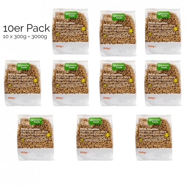 Vantastic Foods Sojahackfleisch Soja Granulat, Sojafleisch 10 x 300g