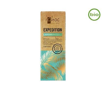 iChoc CARIBBEAN GOLD Weiße mit Kokosblütenzucker, BIO, Schokolade 50g