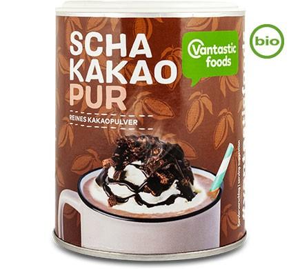 Schakakao Bio Trinkschokolade reines Kakaopulver von Fantastic Foods