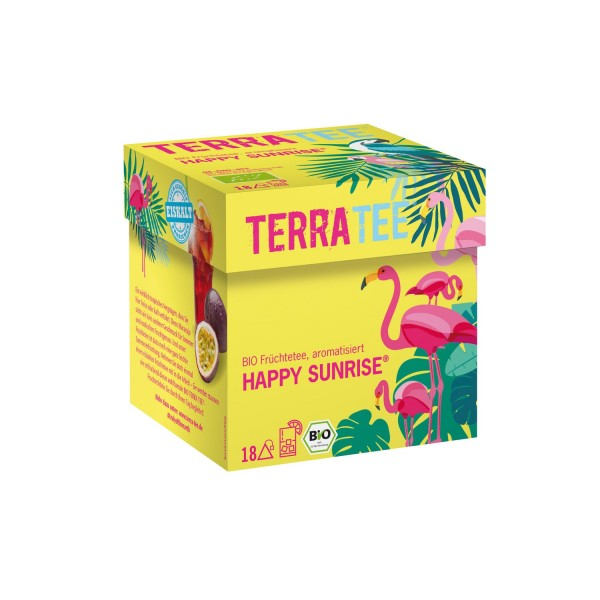 Terra Tee® HAPPY SUNRISE Früchtetee, BIO, 45g (18 Beutel)