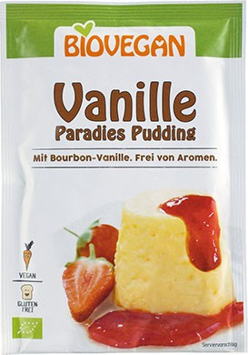 Veganer Paradies Pudding in Vanille von Biovegan