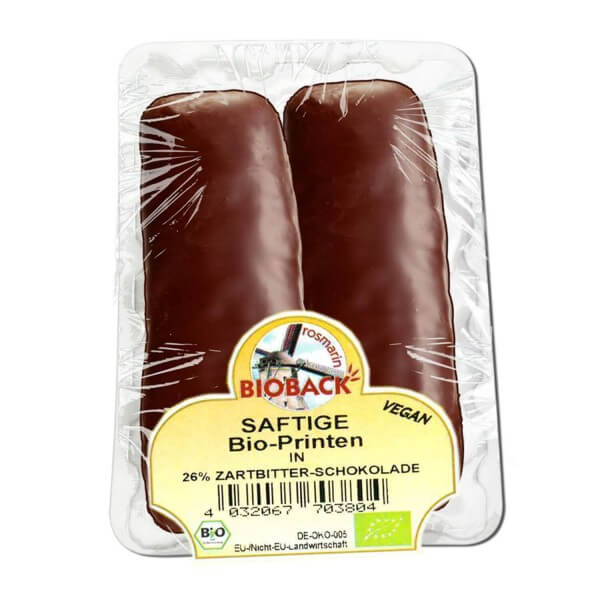 rosmarin BIOBACK SAFTIGE PRINTEN in Zartbitterschokolade (26%), BIO, 60g