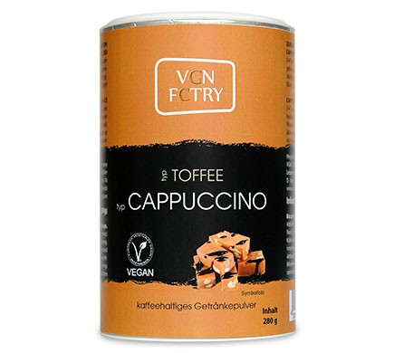 Cappuccino Pulver vegan mit Toffee Geschmack von VGN FCTRY