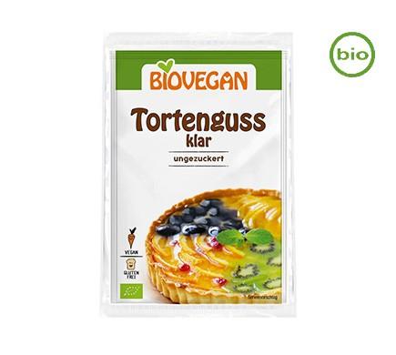 Zuckerfreien Bio Tortenguss klar von Biovegan