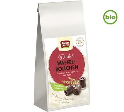 Schokoladen Waffelröllchen, vegan und in Bio Qualität