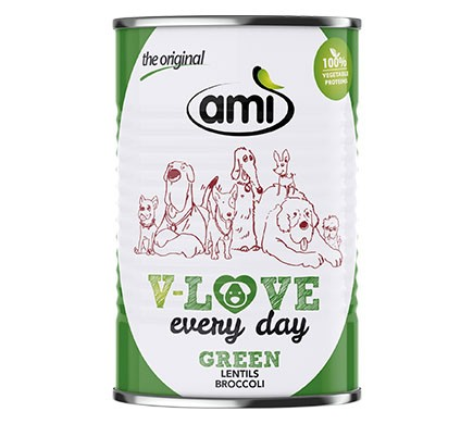Ami V-LOVE every day GREEN Linsen Brokkoli, 400g