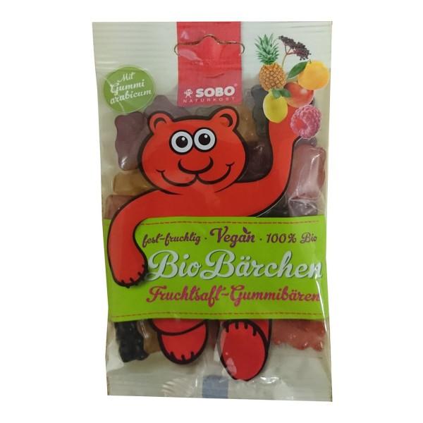 SOBO BIO-BÄRCHEN Fruchtsaft-Gummibären, BIO, 75g