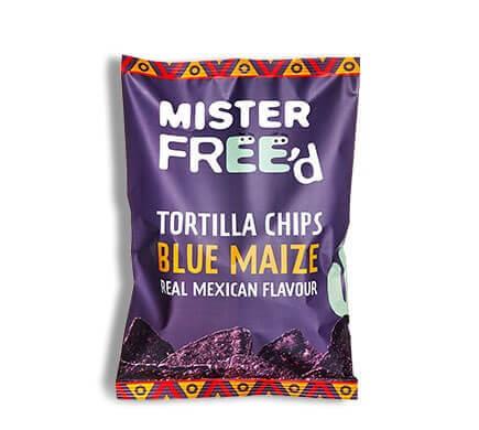 "Mister Free'd TORTILLA CHIPS ""El Azul"" mit blauem Hopi-Mais, 135g"