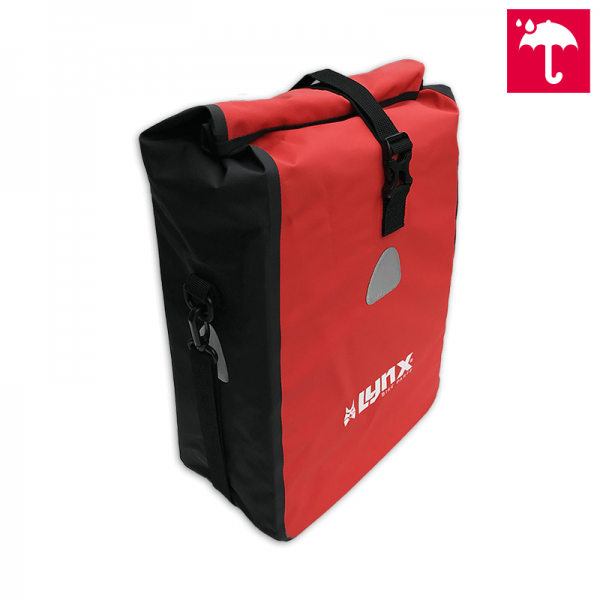 Rote Fahrradtasche Fahrrad Gepäckträgertasche 16 L Wasserdicht Einkaufstasche