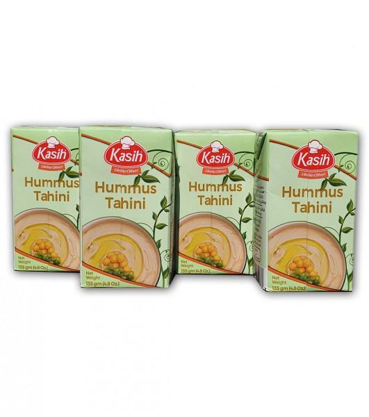Kasih Hummus mit Tahin Kichererbsen- & Sesampaste 4 x 135 g VEGAN