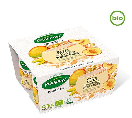 Fruchtiger veganer Bio Joghurt aus Sojabohnen