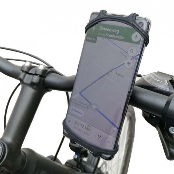 LYNX® Handyhalterung Fahrrad Silikon Universal Smartphone Halterung Handy Lenker