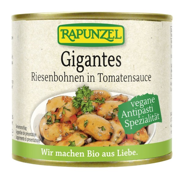 Rapunzel GIGANTES Riesenbohnen in Tomatensauce, BIO, 230g
