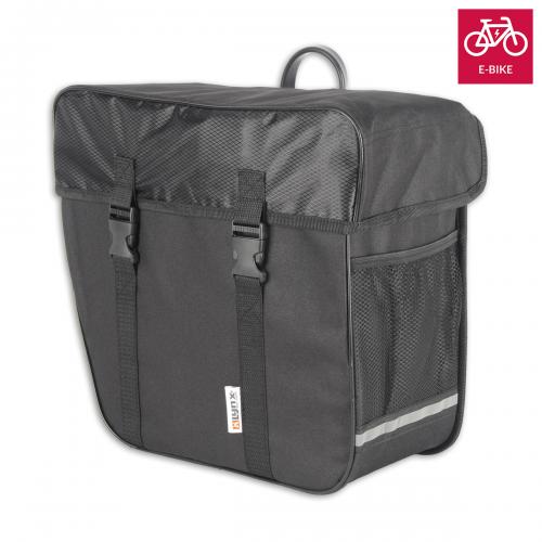 E-Bike Fahrradtasche Ebike Gepäckträgertasche Schwarz Wasserfest Tasche Koffer