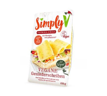 Käse Aufschnitt von Simply V in der Sorte Paprika - Chili