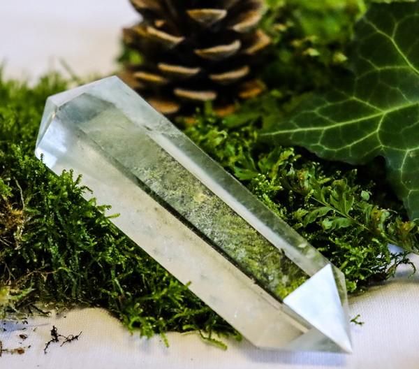 Bergkristall Doppel Spitze Doppelender Heilstein Bergkristallspitze Klar 110 mm