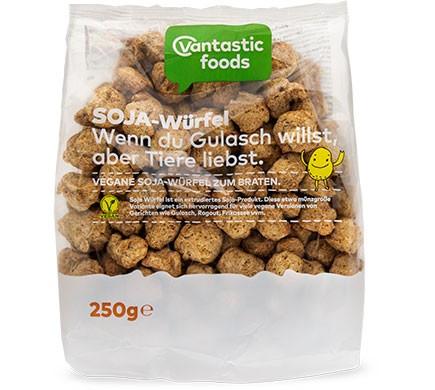 Fleischersatz vegan Soja-Würfel von Vantastic Foods Soja Geschnetzeltes
