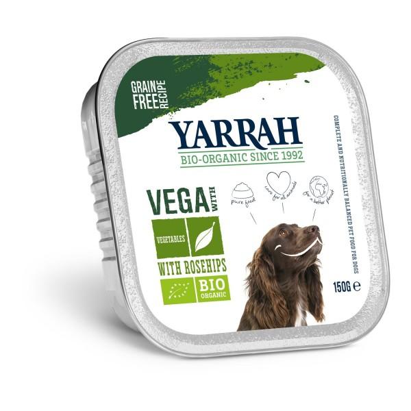 Yarrah HUNDEFUTTER VEGA BRÖCKCHEN (vegan) mit Gemüse & Hagebutten, BIO, 150g