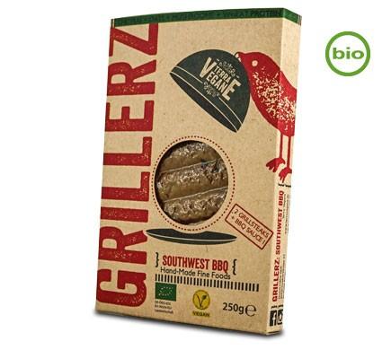 Terra Vegane Bio SOUTHWEST BBQ GRILLERZ Grillsteaks, 250g