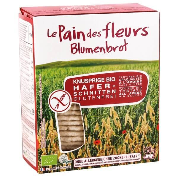 Le Pain des fleurs BLUMENBROT Knusprige Hafer-Schnitten, BIO, 150g