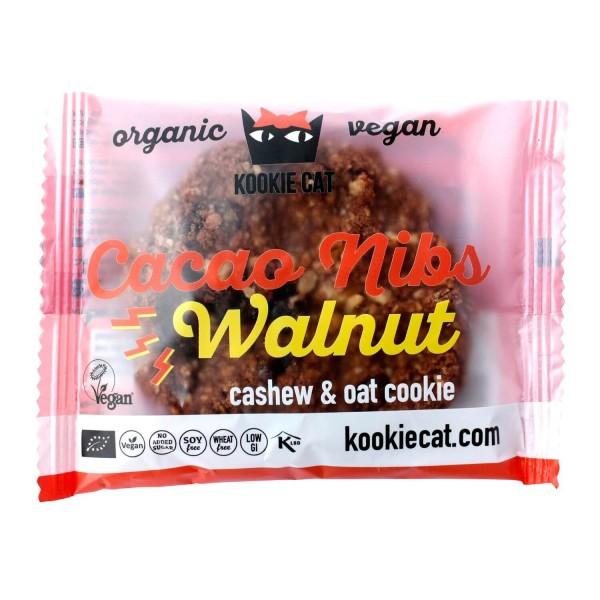 Kookie Cat CASHEW-HAFER-KEKS Kakaonibs & Walnuss, BIO, 50g