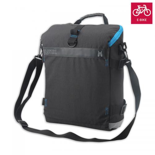 E-Bike Fahrradtasche Fahrrad Gepäckträger Tasche Fahrradtaschen Schwarz mit Gurt
