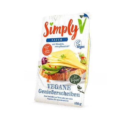 Simply V Alternativer Käse Brotbelag in der Sorte natur