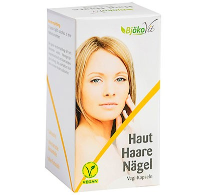 BjökoVit vegan Kapseln für Schönheit Haare Haut und Nägel