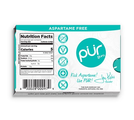 PÜR GUM Kaugummi vegan ohne Aspartam, 12,6g versch. Sorten